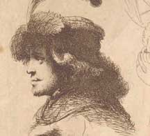 Rembrandt, Rare Etching