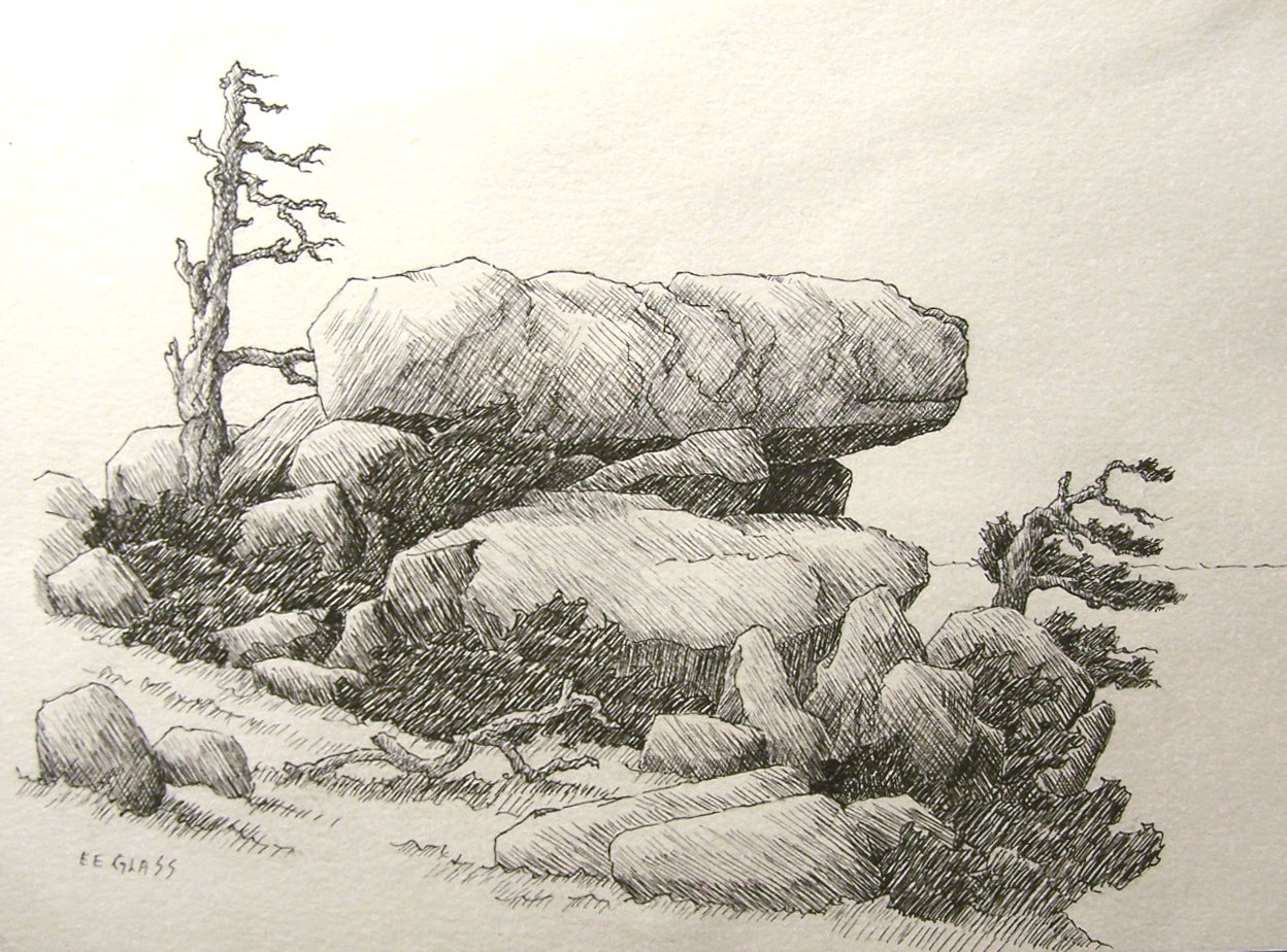 1000+ images about Drawing stones, rocks, mountain on ... Drawing Of A Stone