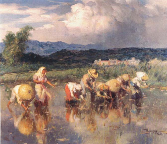 Filipino Paintings-Fernando Amorsolo
